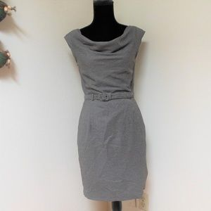 Banana Republic Drape Neck Houndstooth Dress 2